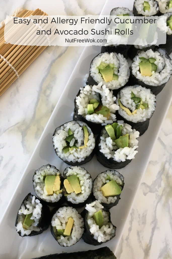 ... and Allergy Friendly Cucumber and Avocado Sushi Rolls - Nut Free Wok
